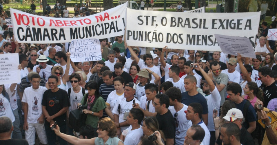 Marcha contra a Corrup&#231;&#227;o em Belo Horizonte