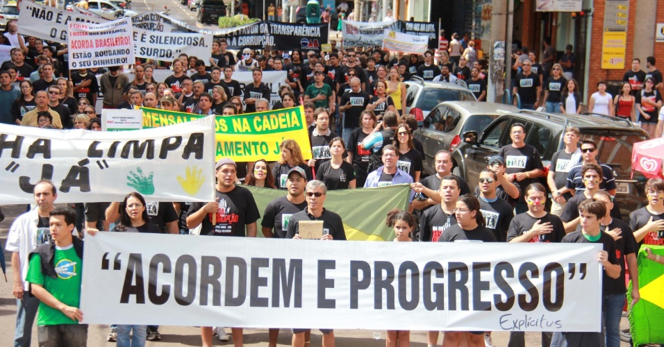 Marcha contra a Corrup&#231;&#227;o em Campo Grande