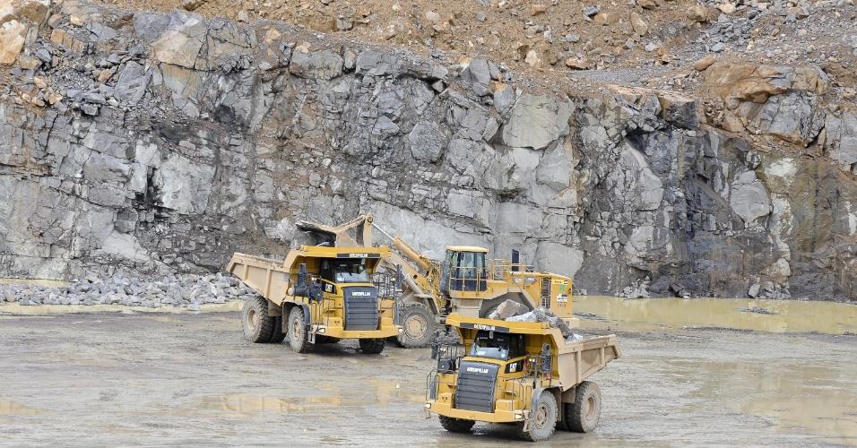 O Sítio Canais e Diques é a maior frente de trabalho nos canteiros de obras de Belo Monte