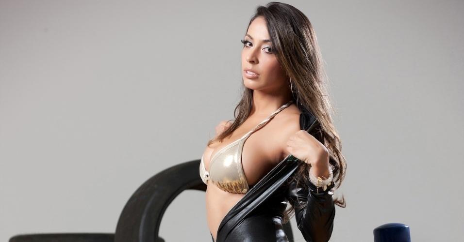 A modelo Ana Rosa Tanos está na disputa para saber quem é a maior beldade da prova no Brasil