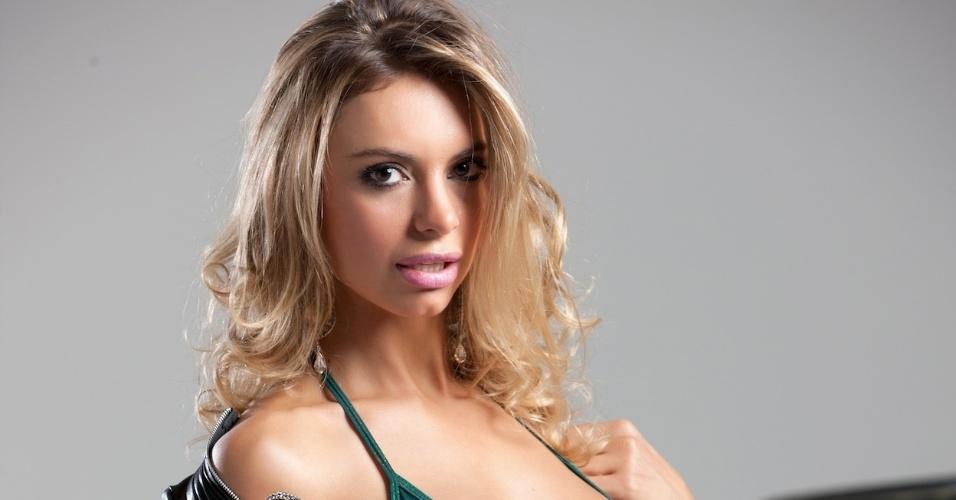 Anna Carvalho, modelo, participa de disputa que terá a final nos dias 28 e 29 de abril, durante a corrida de Fórmula Indy em São Paulo