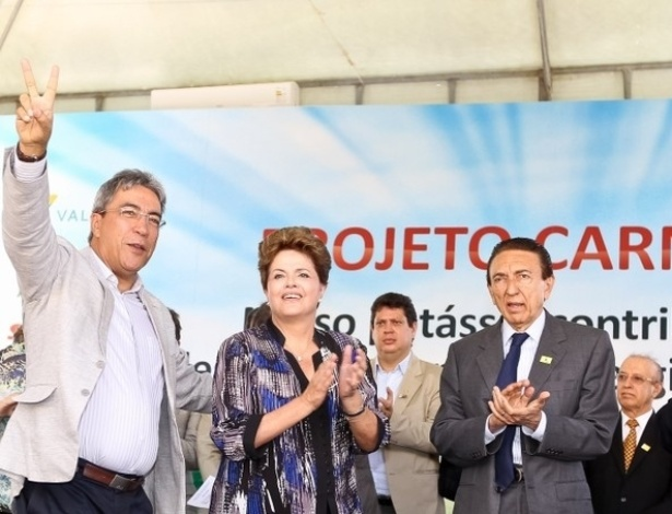 Presidente Dilma Rousseff participa de cerim&#244;nia, em Aracaj&#250; (SE), de assinatura de contrato entre a Petrobras e a Vale para arrendamento das reservas de pot&#225;ssio no Estado de Sergipe