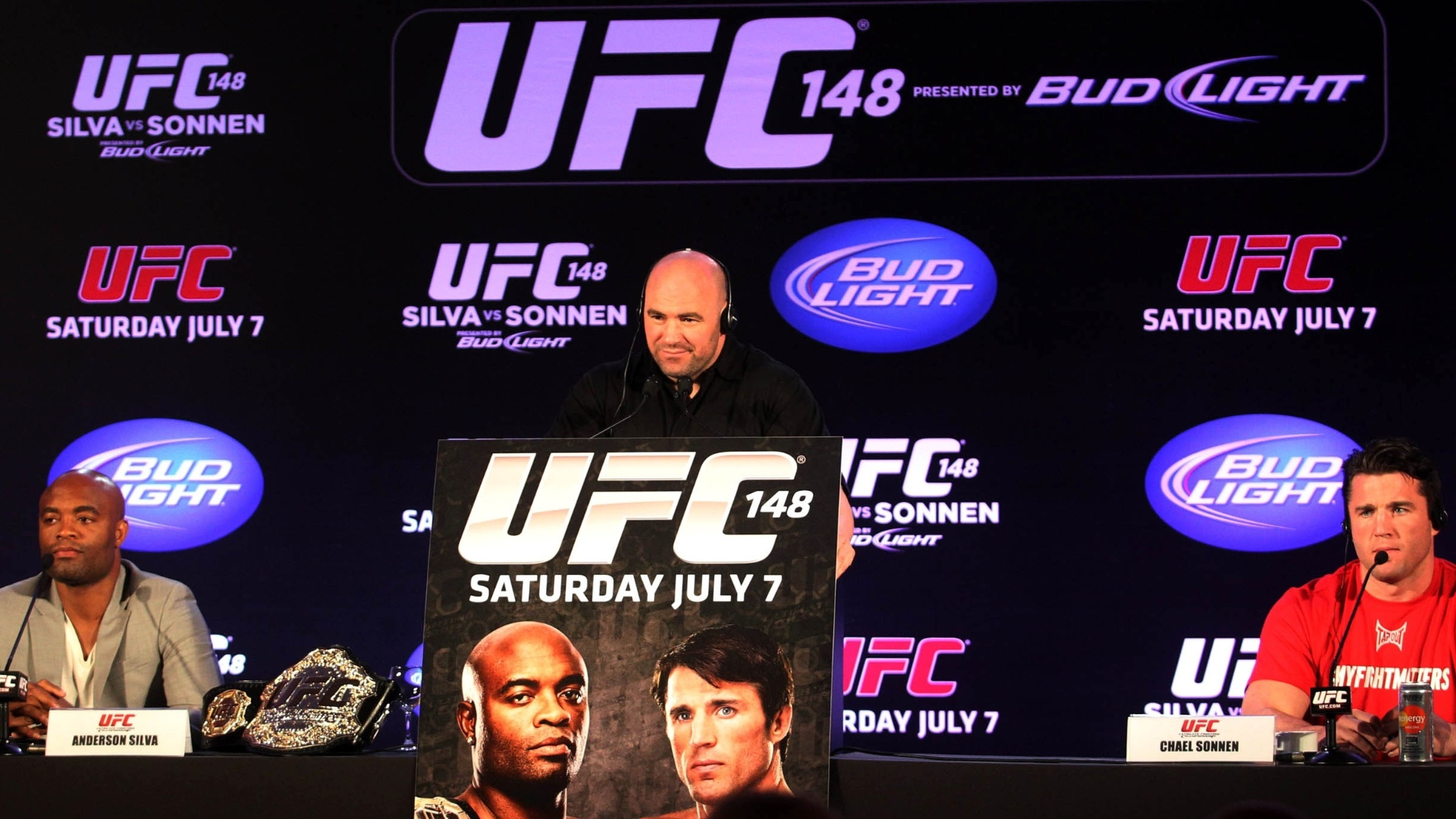 A luta entre Anderson Silva e Chael Sonnen migrou para Las Vegas, no UFC 148, em 7 de julho
