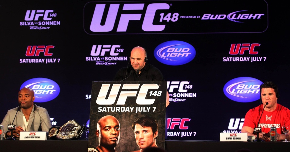 A luta entre Anderson Silva e Chael Sonnen migrou para Las Vegas, no UFC 148, em 7 de julho