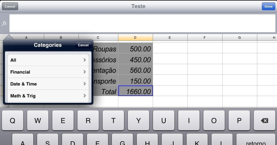Programa Documents to Go para iPad
