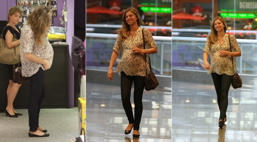 Grazi Massafera passeia em shopping da zona oeste do Rio &#40;25/4/12&#41;