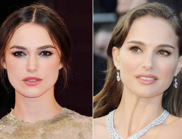 Keira Knightley (esq.) e Natalie Portman (dir.)