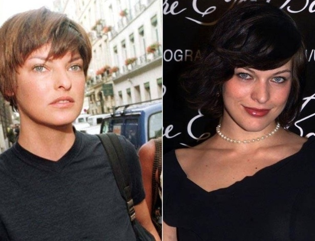 Linda Evangelista (esq.) e Milla Jovovich (dir.)