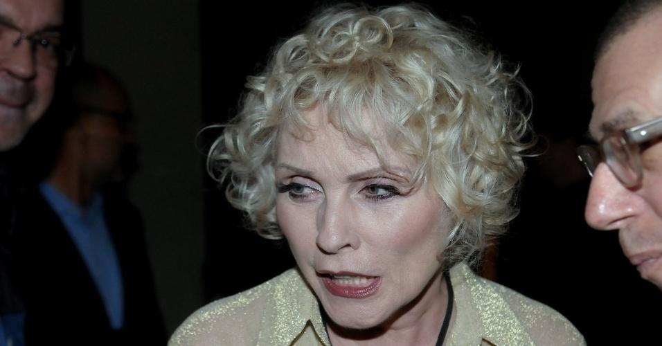 """Cantora de punk rock Debbie Harry vai à festa de aniversário da revista """"Vogue"""" Brasil, na Casa Petra, no Ibirapuera em São Paulo (25/4/12)"""
