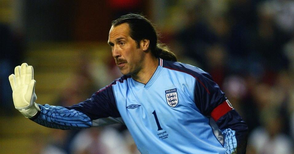 David Seaman, goleiro da seleção inglesa na Copa do Mundo de 2002
