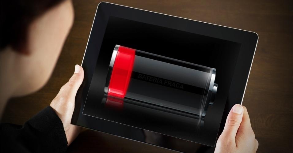 economizar bateria do tablet