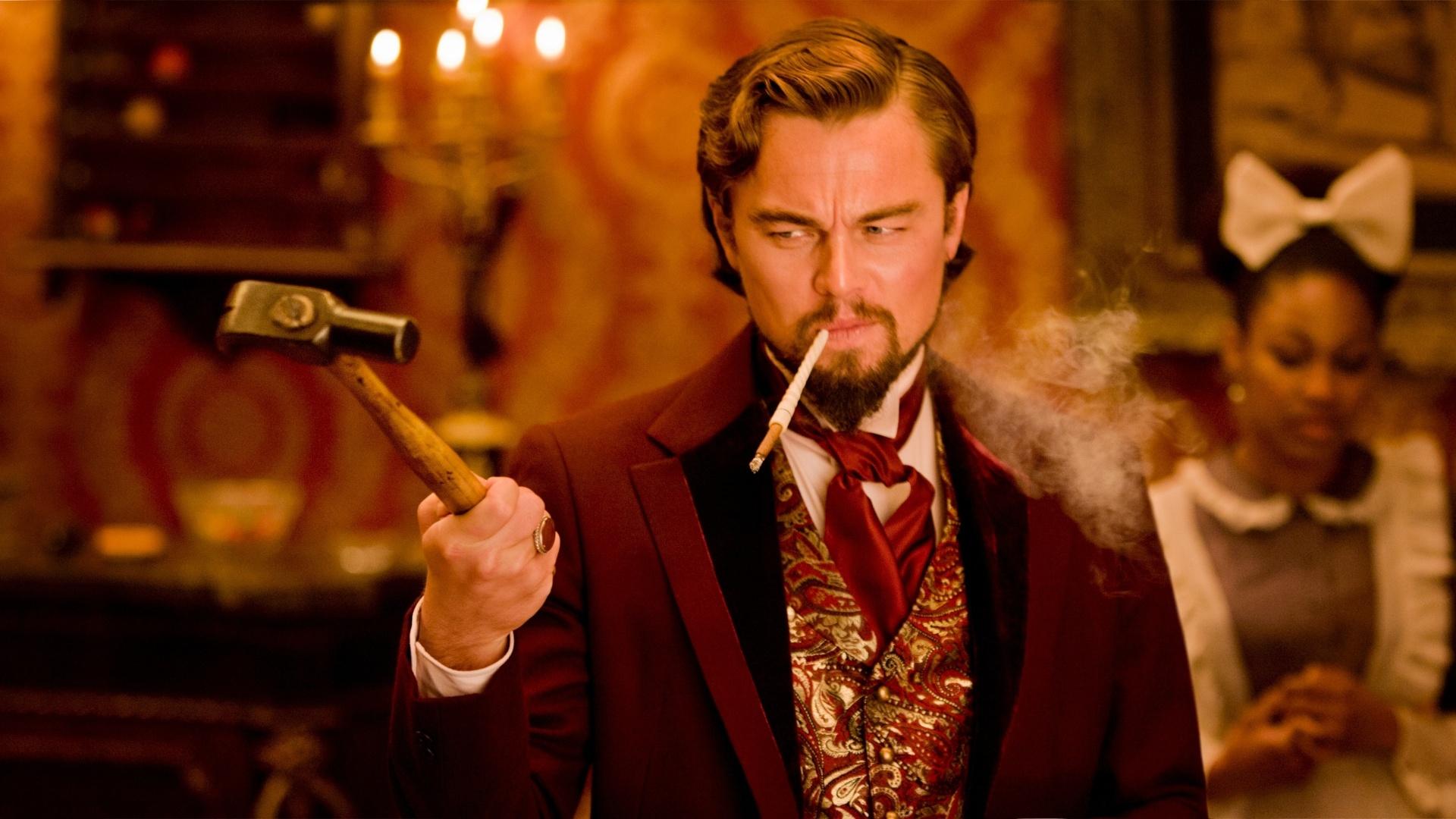 Leonardo DiCaprio interpreta o vilão Calvin Candie em