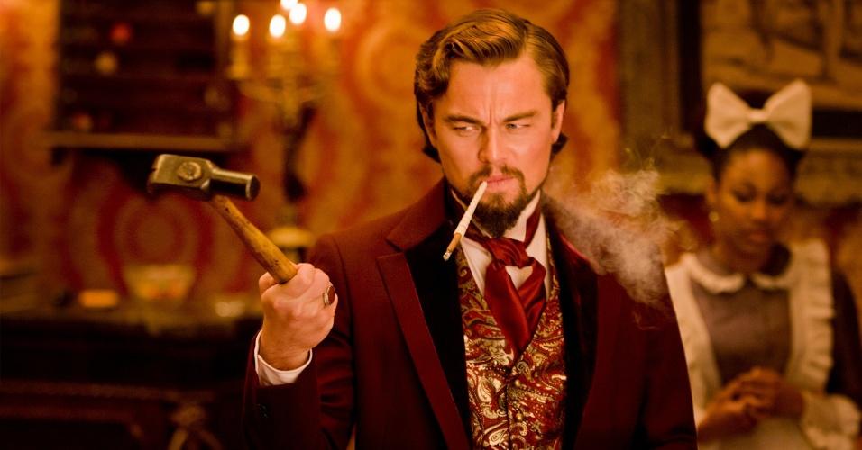 """Leonardo DiCaprio interpreta o vilão Calvin Candie em """"Django Livre"""", de Quentin Tarantino"""