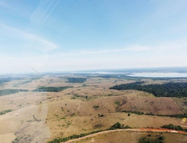 27.abr.2012 - Aproximadamente 60% da área que será ocupada pelas obras da usina hidrelétrica de Belo Monte, no rio Xingu, no Pará, um dos mais importantes projetos do PAC (Programa de Aceleração do Crescimento), correspondem a pastagens e vegetação secundária, segundo a Norte Energia, empreendedor responsável pela construção e operação da usina