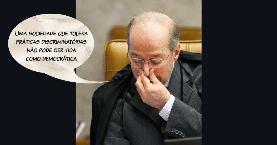 """Ministro Celso de Mello: """"Uma sociedade que tolera práticas discriminatórias não pode ser tida como democrática"""""""