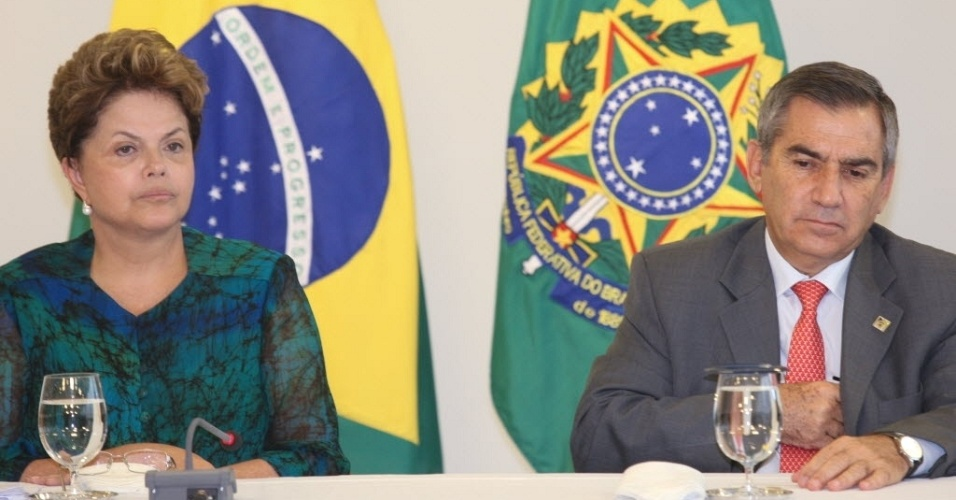 27.abr.2012-  Presidente Dilma Rousseff recebe representantes da Contag 