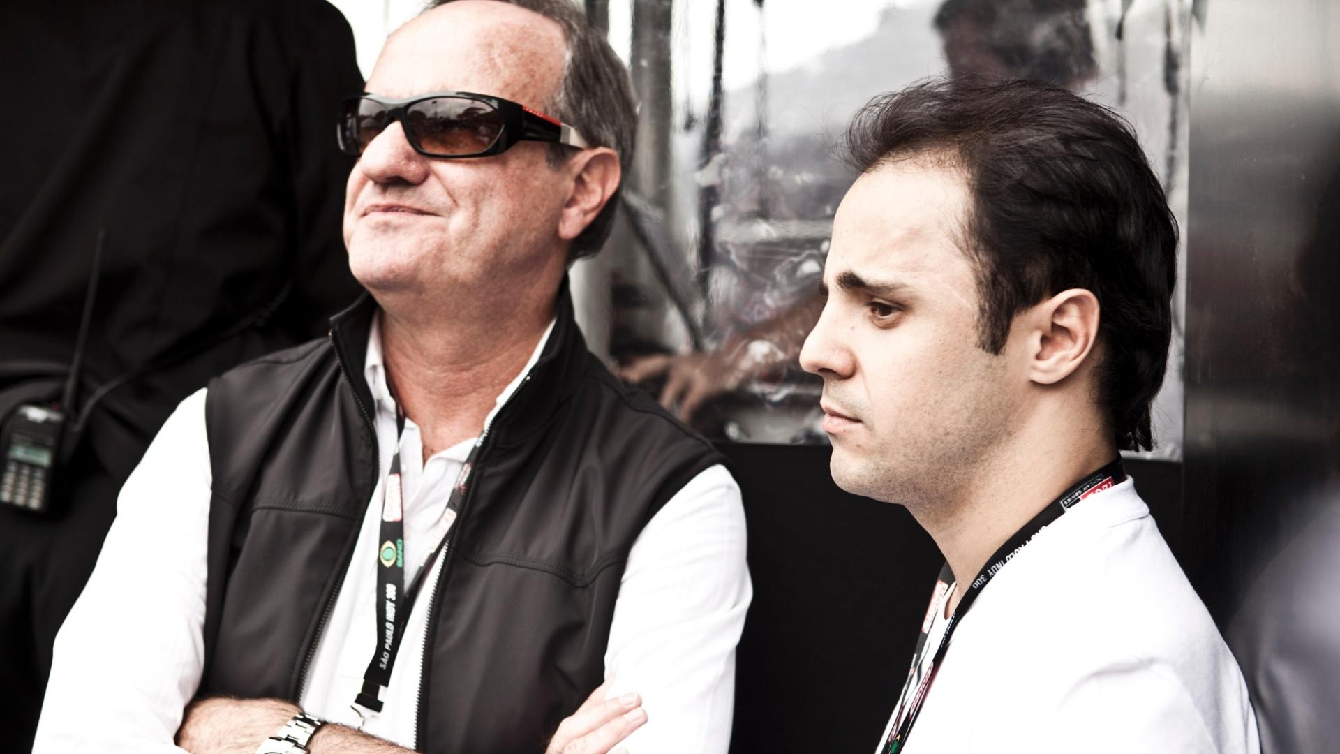 Felipe Massa compareceu ao Anhembi para ver o treino classificatório da Indy