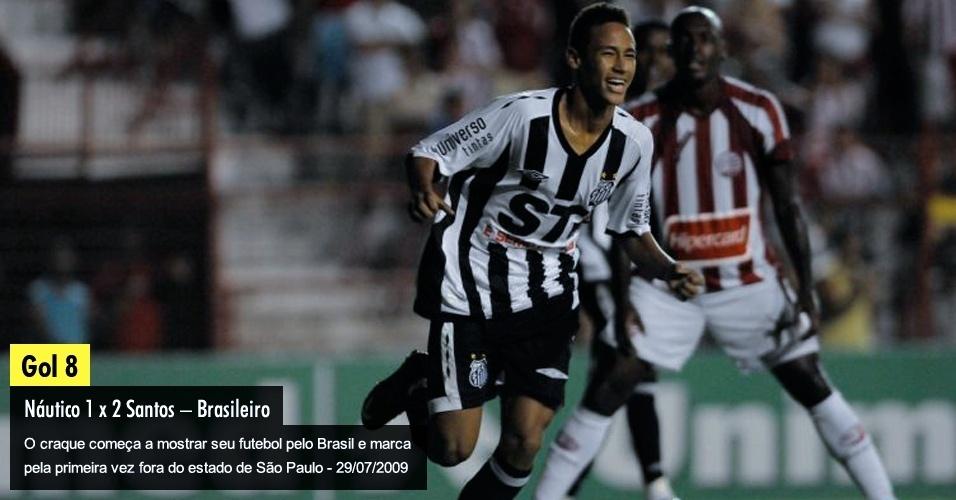 O craque começa a mostrar seu futebol pelo Brasil e marca pela primeira vez fora do Estado de São Paulo - 29/07/2009