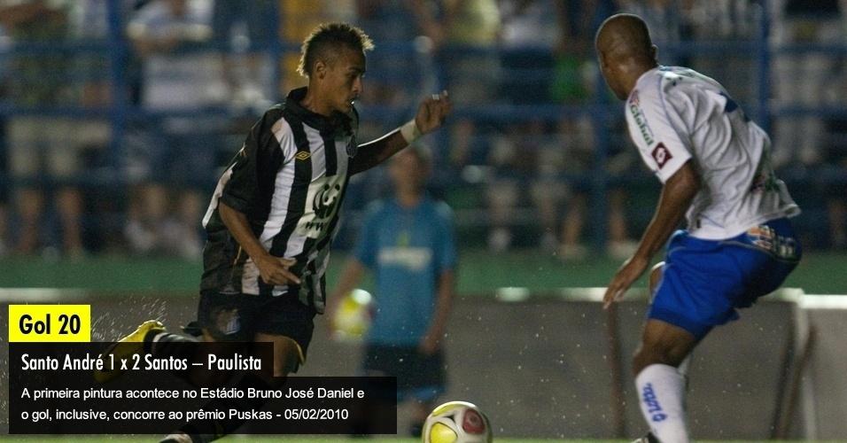 A primeira pintura acontece no Estádio Bruno José Daniel e o gol, inclusive, concorre ao prêmio Puskas