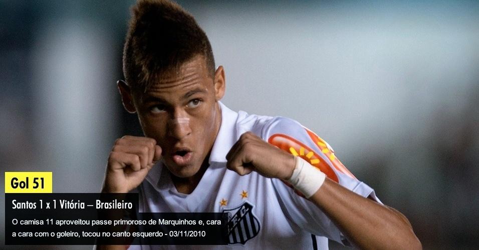 O camisa 11 aproveitou passe primoroso de Marquinhos e, cara a cara com o goleiro, tocou no canto esquerdo - 03/11/2010
