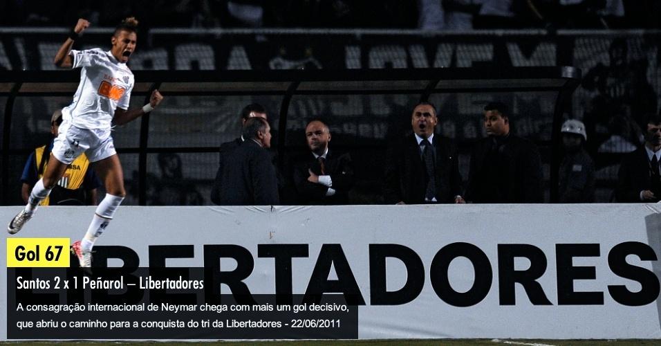 A consagração internacional de Neymar chega com mais um gol decisivo, que abriu o caminho para a conquista do tri da Libertadores - 22/06/2011