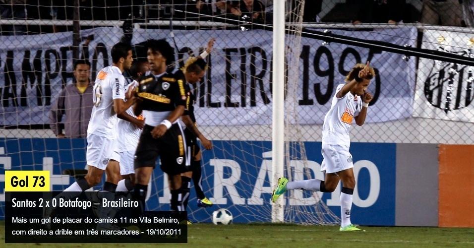 Mais um gol de placar do camisa 11 na Vila Belmiro, com direito a drible em três marcadores - 19/10/2011