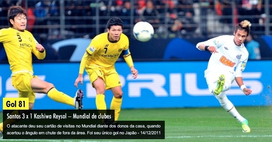O atacante deu seu cartão de visitas no Mundial diante dos donos da casa, quando acertou o ângulo em chute de fora da área. Foi seu único gol no Japão - 14/12/2011