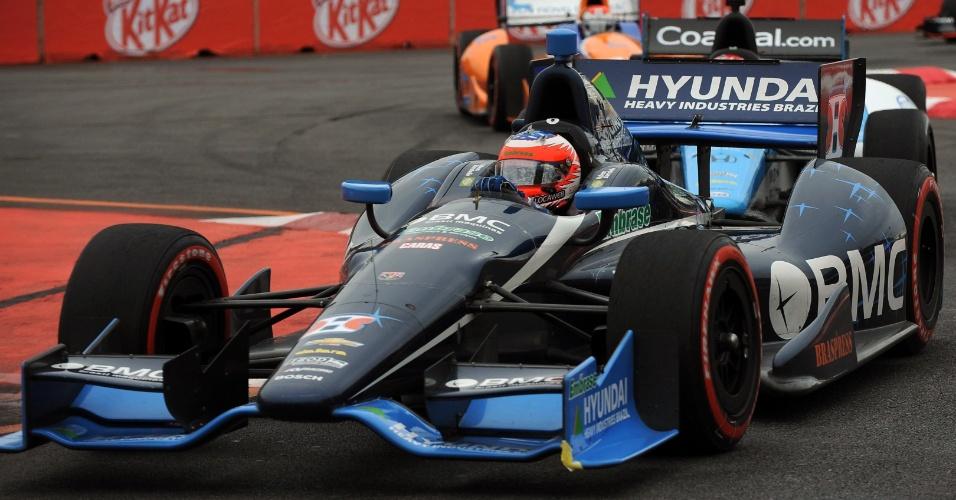Rubens Barrichello guia sua KV durante a etapa de São Paulo da Fórmula Indy