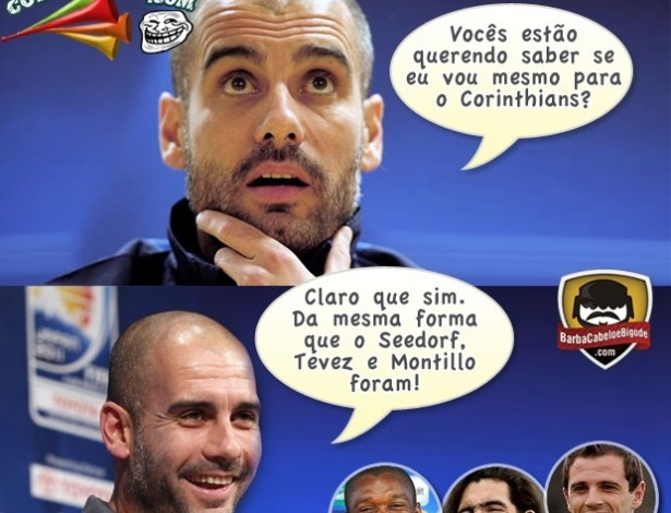 Corneta FC: Guardiola d falsas esperanas para o Corinthians