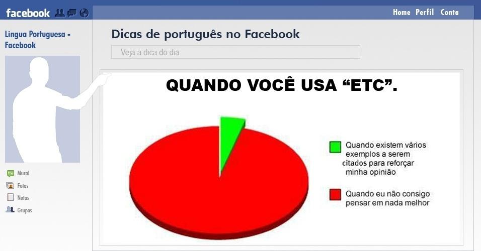Reprodução de dica de português compartilhada no Facebook