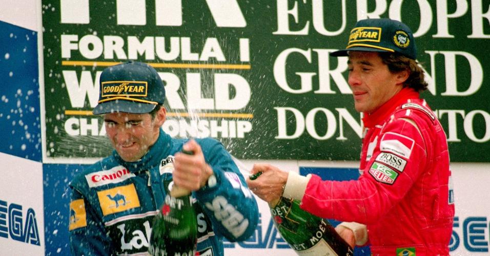 GP da Europa de 1993: Senna fez o que até hoje é considerada por muitos a melhor volta da história, quando saiu da quarta posição para a liderança