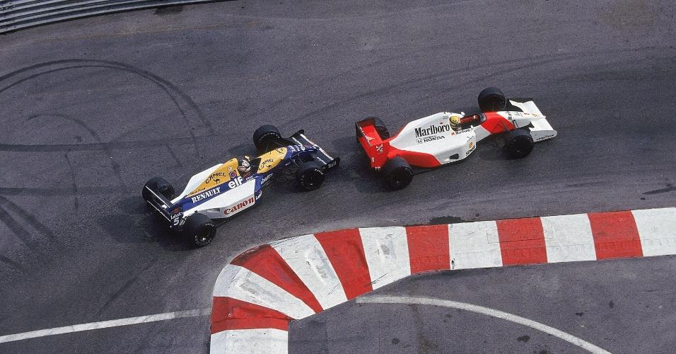 GP de Mônaco de 1992: Com um carro muito inferior, Senna teve que segurar no braço a pressão da WIlliams de Nigel Mansell para vencer