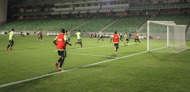 Atlético-MG treinou nesta quarta-feira, no Independência, para jogo com o Goiás