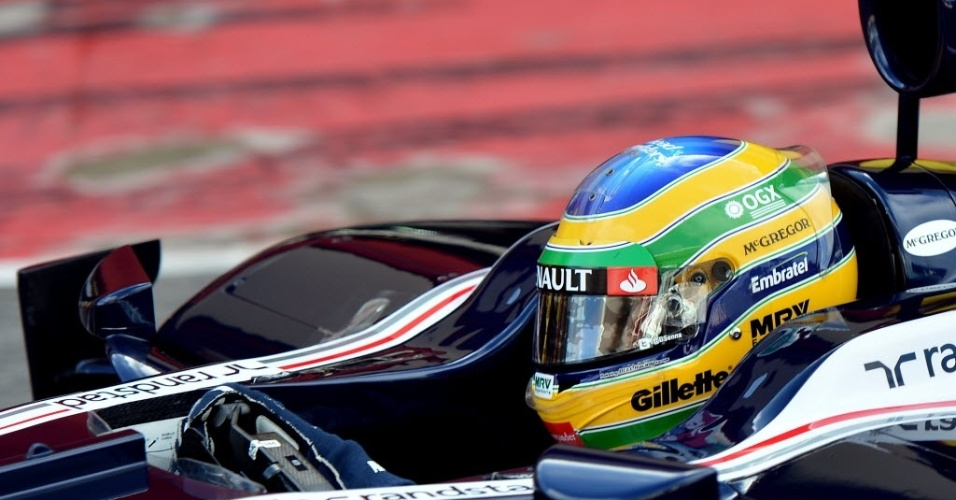 Bruno Senna foi o mais lento do dia na Itália, com a Williams