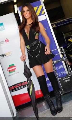 Grid girl da MotoGP durante a etapa da Espanha da categoria