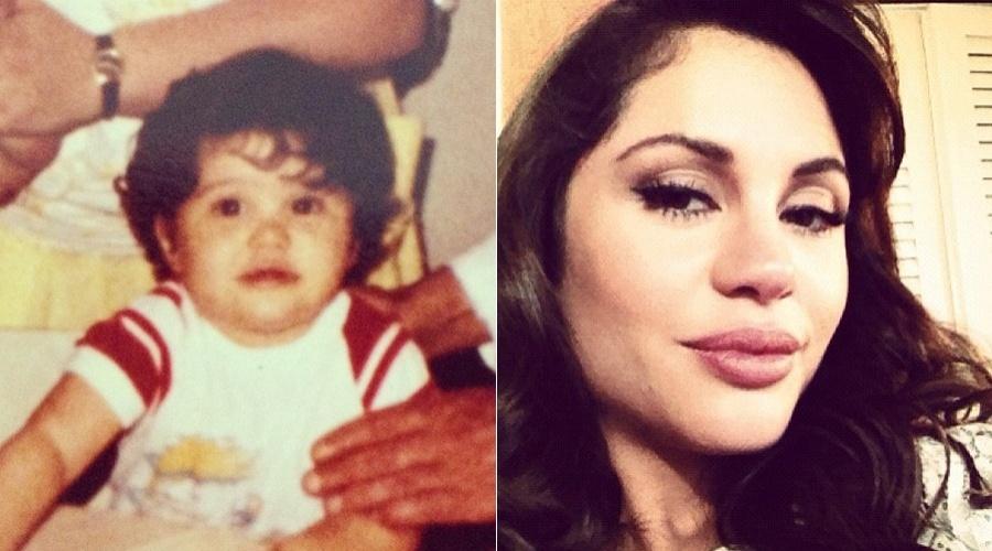 Maria Melilo mostra foto de quando era bebê, pelo Twitter (2/5/12)
