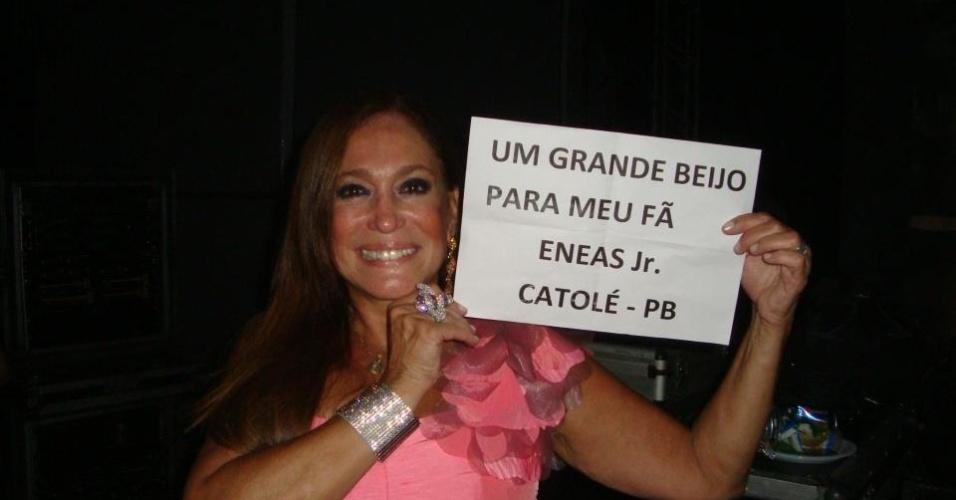 Susana Vieira faz participação especial no lançamento do DVD da banda Desejo de Menina em Petrolina (28/4/12)