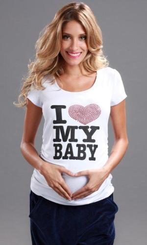 Camiseta I Love My Baby da Menina&Meninas