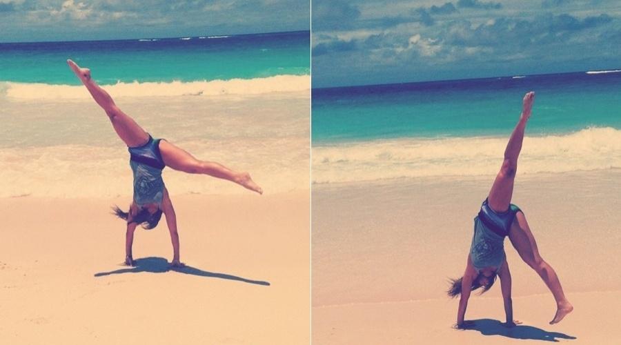 Sabrina Sato curte praia na República Dominicana, Caribe (3/5/12)