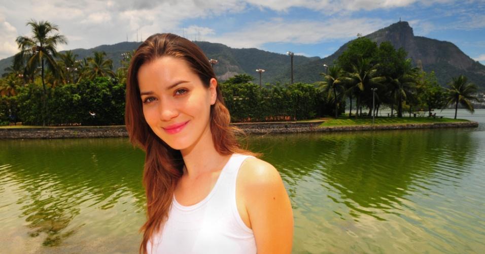 """04.mai.2012 - A atriz Nathalia Dill, a Débora de """"Avenida Brasil"""", teve sua carteira apreendida após ser parada em uma blitz da Lei Seca no Rio"""