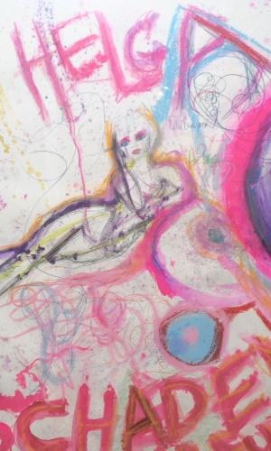 A cantora Courtney Love faz sua primeira exposição de arte em Nova York (3/5/12)