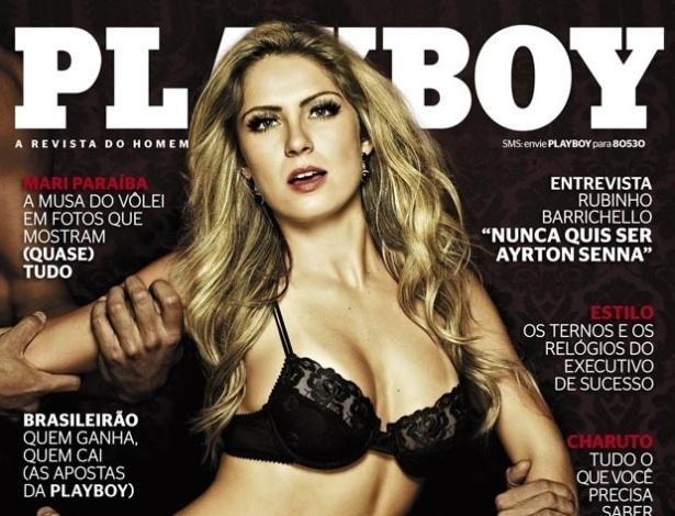 """A ex-BBB Renata Dávila estampa a capa da edição de maio da revista """"Playboy"""" (4/5/12)"""