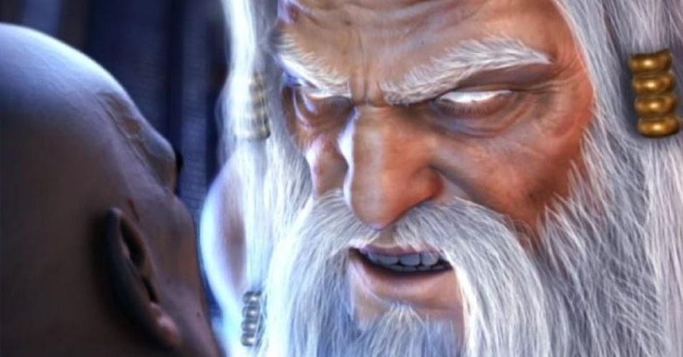 A identidade da águia era Zeus, que oferece a Kratos uma última chance de servir aos deuses. Ele recusa e o deus supremo atravessa o corpo do espartano com uma espada