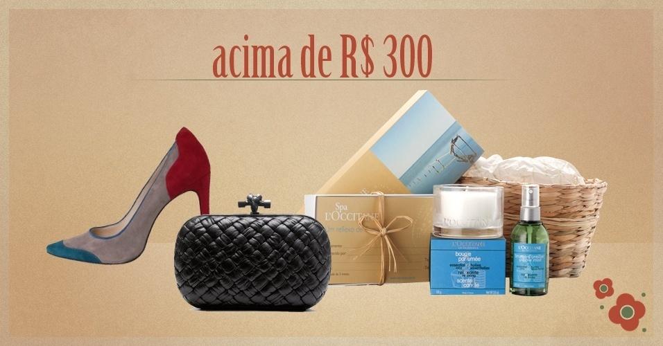 Álbum Dia das Mães 2012 - imagem de abre da seção dos presentes com preços acima de R$ 300