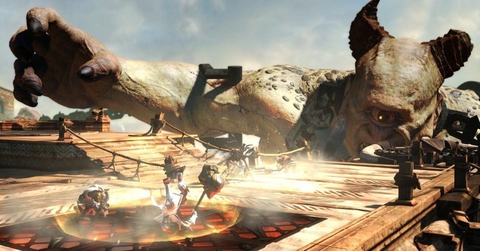 """Em """"God of War: Ascension"""", de PS3 e lançado em 2013, é contado mais sobre o passado de Kratos e, pela primeira vez, aparece um modo multiplayer"""