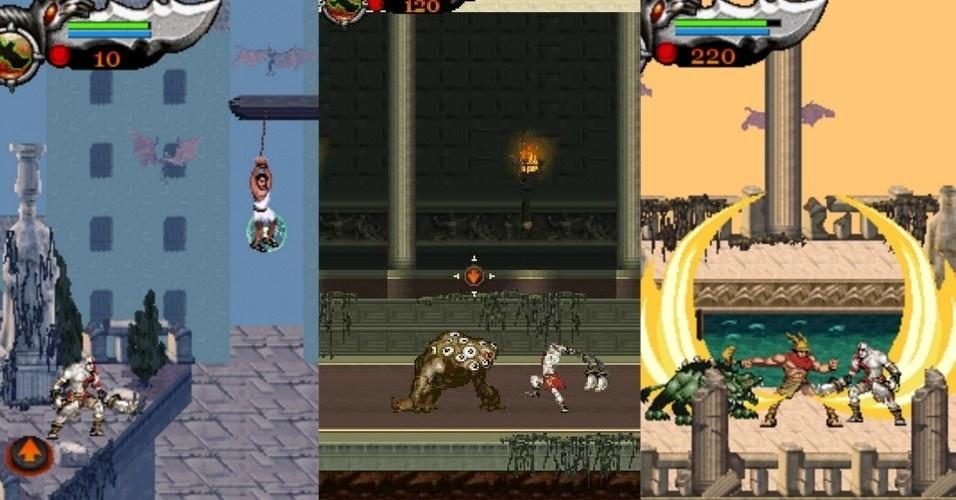 """Em """"God of War: Betrayal"""" (celulares, 2007), Kratos continua sua guerra contra a Grécia. Durante os combates, é atacado por Argos, o gigante de cem olhos e servo de Hera. No entanto, a criatura é morta por um assassino misterioso. Ceryx, filho de Hermes, é mandado por Zeus para levar uma mensagem para Kratos. O mensageiro é morto e o assassino misterioso foge"""