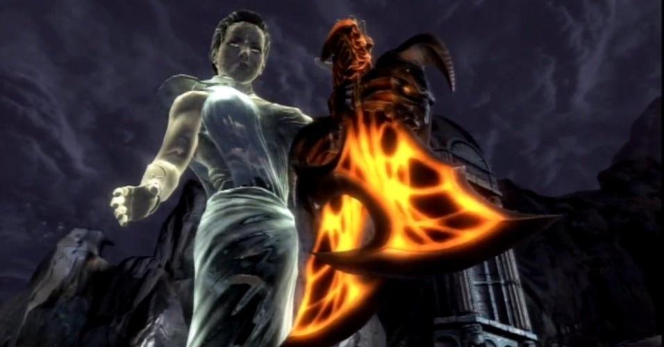 Embora tenha derrotado o deus dos mares, Kratos é traído pelos titãs e cai para o mundo dos mortos. Sem suas armas habituais, recebe do espírito de Atenas as Lâminas do Exílio e fica sabendo que, para derrotar Zeus, será preciso apagar as chamas do Olimpo