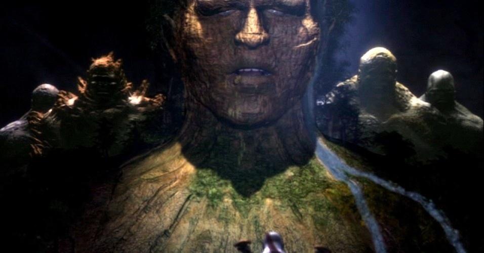 Junto com os titãs, que buscam vingança contra Zeus, Kratos segue para o monte Olimpo para acabar com a guerra