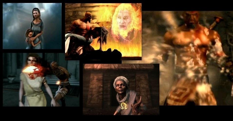 Kratos passa a lutar em nome de Ares, levando destruição para toda a Grécia. Entretanto, numa articulação do deus da guerra, Kratos termina por aniquilar sua mulher e sua filha. Uma vidente avisara-lhe da tragédia e lança uma maldição: as cinzas originadas dos restos mortais de sua família impregnam em seu corpo, tornando o branco, dando origem à lenda do Fantasma de Esparta