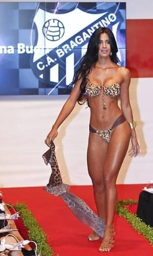 Lorena Bueri, do Bragantino, a vencedora do concurso Gatas do Paulistão 2012